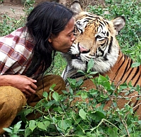 Prietenie incredibila intre un barbat si un tigru bengalez