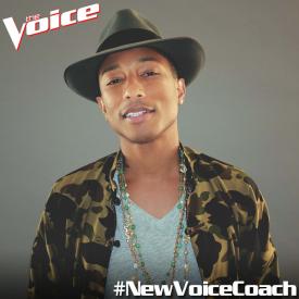 Pharrell Williams se alătură emisiunii The Voice
