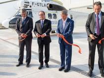Premierul Dacian Cioloș și președintele Republicii Franceze, François Hollande, au participat la inaugurarea noii uzine de asamblare a elicopterelor Airbus H215 de la Ghimbav, Brașov
