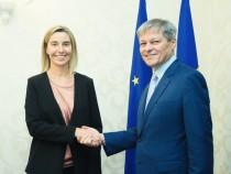 Întâlnirea premierului Dacian Cioloș cu Federica Mogherini, Înaltul Reprezentant al Uniunii Europene pentru Afaceri Externe și Politică de Securitate și vicepreședinte al Comisiei Europene