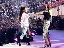 Miley Cyrus și Ariana Grande fac un duet impresionant la concertul caritabil pentru victimele atentatului din Manchester