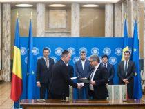 Ceremonia de semnare a primelor contracte de achiziție de echipamente de radioterapie pentru cinci centre din țară