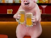 Și porcii fac urât la băutură! Un porc se face criță după care face un scandal monstru!