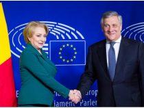 Întrevederea prim-ministrului României, Viorica Dăncilă, cu Antonio Tajani, președintele Parlamentului European