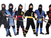 La carnavalul urmator micutul tau poate purta un costum de ninja pentru o aparitie originala