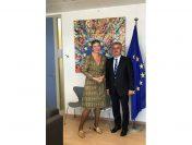 Discuţii între vicepremierul Viorel Ștefan şi comisarul european pentru Concurenţă, Margrethe Vestager, despre situaţia Combinatului Sidex Galaţi