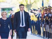 Premierul Viorica Dăncilă l-a primit, la Palatul Victoria, pe omologul său din Republica Croația, Andrej Plenkovic