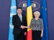 Întrevederea prim-ministrului României, Viorica Dăncilă, cu preşedintele Adunării Generale a ONU, Miroslav Lajčák