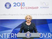 Premierul Viorica Dăncilă a participat la deschiderea Programului Oficial de Internship al Guvernului României, ediția 2018