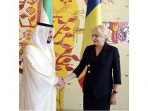 Primirea șeicului Hamdan Bin Zayed Al Nahyan, conducătorul regiunii Al Dhafrah, de către prim-ministrul Viorica Dăncilă