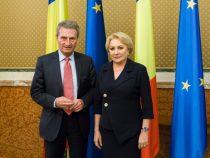 Întrevederea prim-ministrului României, Viorica Dăncilă, cu comisarul european pentru buget și resurse umane, Günther Oettinger