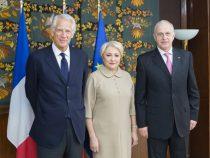 Primirea domnului Dominique de Villepin, prim-ministru al Republicii Franceze în perioada 2005-2007, de către prim-ministrul României, doamna Viorica Dăncilă