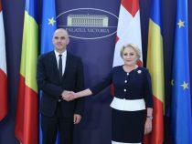 Întrevederea prim-ministrului României cu președintele Confederației Elvețiene