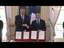 Declaraţie politică în cadrul Parteneriatului Strategic, semnată de Iohannis şi Macron