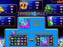 Descoperă paradisul jocurilor de casino, Vegas, cu slotul Jewels 4 all gratis