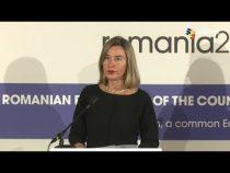 Mogherini: Cooperarea progresează în mai multe iniţiative din domeniul apărării europene